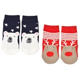 Joules Red and Blue Polar Bear and Reindeer Socks Set