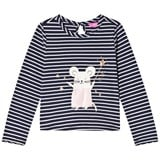 Joules Navy Glitter Mouse Applique Tee