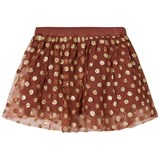 Noa Noa Miniature Rustic Brown and Gold Skirt