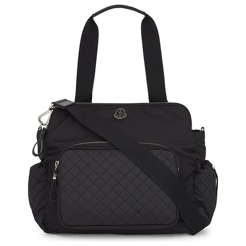 moncler black baby changing bag