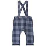 Hust&Claire Blue Check Overalls