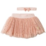 Hust&Claire Peach Rose Skirt and Headband