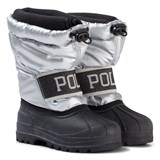 Ralph Lauren Silver and Black Jakson Winter Boots