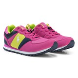 Ralph Lauren Pink and Lime Lace Up Trainers