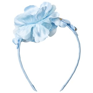 DAVID CHARLES | David Charles David Charles Blue Flower Diamante And Tulle Headband One Size | Goxip