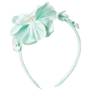 DAVID CHARLES | David Charles David Charles Turquoise Flower Diamante And Tulle Headband One Size | Goxip