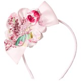 David Charles Pink Floral and Tulle Headband