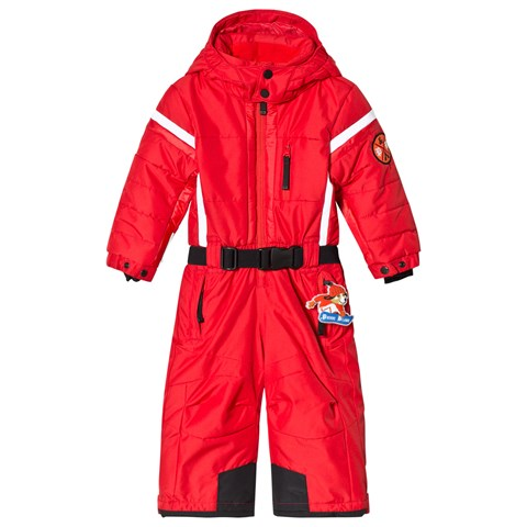 Poivre Blanc Red Ski Suit with Embroidered Back