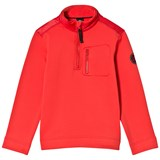 Poivre Blanc Red Stretch Fleece 1/4 Zip Mid Layer