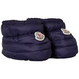 Moncler Royal Blue Baby Footies