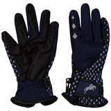 Harry Hall Navy Waterproof Farley Junior Softshell Gloves