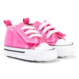 Converse Pink and White Chuck Taylor First Taylor First Star Easy Slip