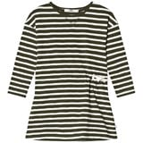 eBBe Kids Green and White Striped Dress