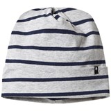 Molo Grey and Navy Infinity Stripe Hat