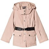 Ver de Terre Girls Eskimo Down Jacket Mahogany Rose  Same As 518 Without Fur At Hood Edge.
