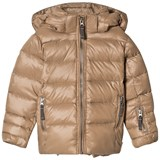 Ver de Terre Featherlight Girls Jacket Hazelnut  Same As 684 Without Fur At Hood Edge.