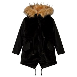SO TWEE | So Twee Black Faux Leather And Pony Skin Faux Fur Lined 2 In 1 Hooded Coat 6 Years | Goxip