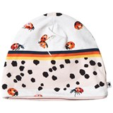 Molo White Pink and White Ladybird Hat