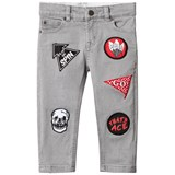 Stella McCartney Kids Grey Denim Lohan Badge Applique Jeans