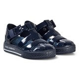 Dolce & Gabbana Navy Branded Jelly Sandals