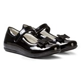 Primigi Black Patent Mary Janes with Bow Clip