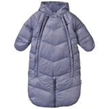 Mini A Ture Baby Blue-Grey Snowsuit Convertible Bunting