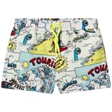 Stella McCartney Kids Yellow and Blue Tourist Print Taylor Swim Shorts