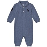 Ralph Lauren Blue Mesh Footless Babygrow with PP