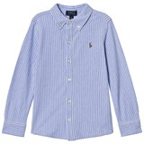 Ralph Lauren Blue Stripe Oxford Mesh Shirt