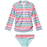 Seafolly Candy Pop Stripe Long Sleeve Rashie Set