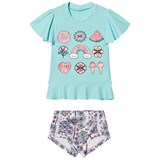 Seafolly Blue Candy Pop Short Sleeve Rashie Set