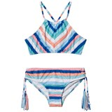 Seafolly Moonchild Stripe Ruched Neck Tankini