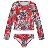 Seafolly Red Jungle Paradise Long Sleeve Surf Set