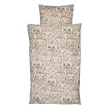 Soft Gallery Cream Adult Owl Print Bed Linen