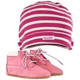 Timberland Kids Crib Bootie With Hat Pink