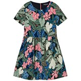 Tommy Hilfiger Pink Green and Blue Flower Party Dress
