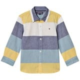 Tommy Hilfiger Blue, Yellow and White Colour Block Shirt