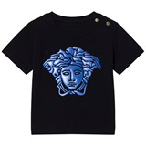 Young Versace Navy with Blue Rubber Medusa Infants Tee