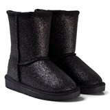Petit by Sofie Schnoor Black and Silver Glitter Low Quilt Boot