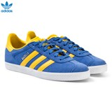 adidas Originals Blue and Yellow Junior Gazelle Trainers