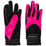 Harry Hall Pink and Black Roxby Junior Hi-Viz Reflective Gloves