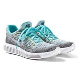 Nike Grey and Blue Nike LunarEpic Low Flyknit 2 Junior Trainers