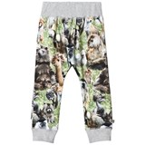 Molo Grey Green and Brown Furry Animals Soft Trousers