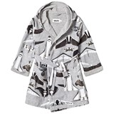 Molo Grey White and Black Planes and Birds Bathrobe