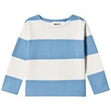 Molo Blue and White Stripe Long Sleeve T-Shirt