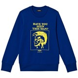 Diesel Blue and Lime Mohican Print Sweatshirt