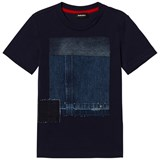 Diesel Blue Denim Patchwork Tee