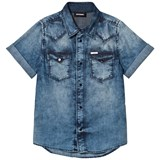 Diesel Light Wash Short Sleeve Denim Shirt