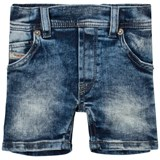 Diesel Blue Light Wash Denim Shorts