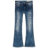 Diesel Mid Wash Lowleeh Distressed Flared Jeans
